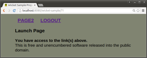 wsUser2 launch page